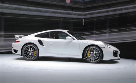 white porsche 911 turbo 2014 porsche 911 turbo s white side view release photo
