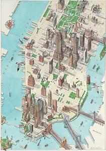 Plan De Manhattan : manhattan illustrated map maplets ~ Melissatoandfro.com Idées de Décoration