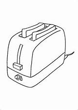 Toaster Sandwich Coloring Uploaded sketch template