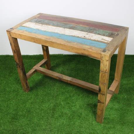 table haute en teck de bois de bateau 140x70 cm tec3013 011