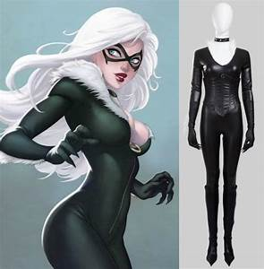 Spider Man Felicia Hardy Black Cat Cosplay Costumes Anime ...