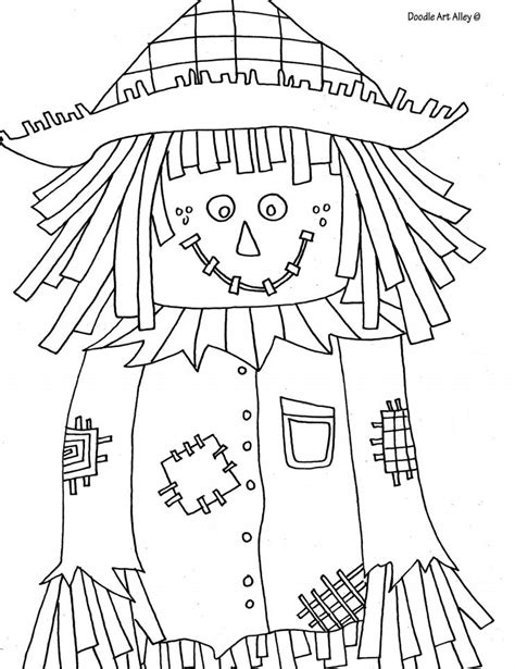 autumn  fall coloring pages   print