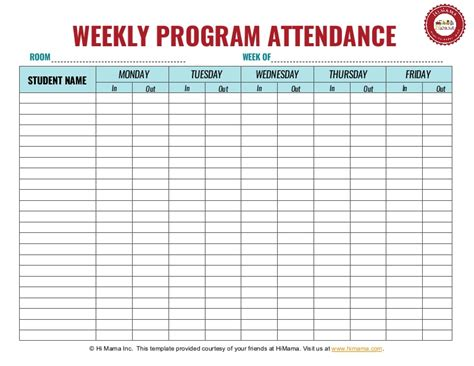 daycare sign in sheet template weekly 716 | daycare sign in sheet template weekly 3 160325184759 thumbnail 4