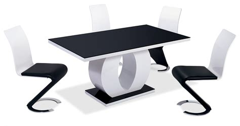Table Et Chaise Blanche by Deco In 2 Table Oamaru 4 Chaises Design Noir Et