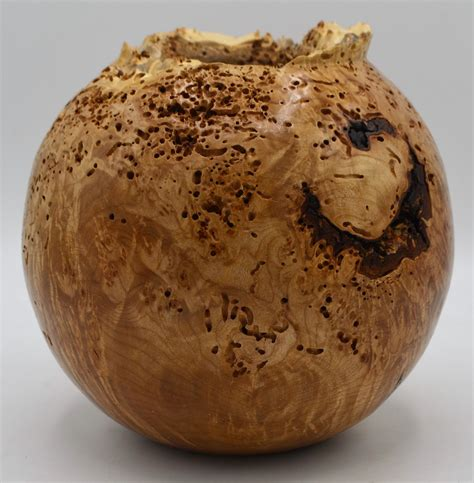 maple burl vase american association  woodturners