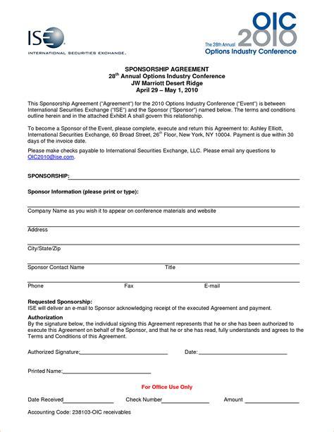 Athlete Sponsorship Resume Template by Athlete Sponsorship Contract Template Resume With Cover