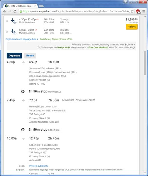 Expedia Airline Tickets