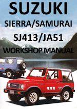 free service manuals online 1987 suzuki sj auto manual suzuki sierra sj413 and samurai ja51 1984 1990 workshop repair manual