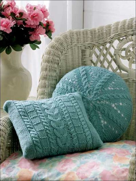 comment tricoter  coussin rond