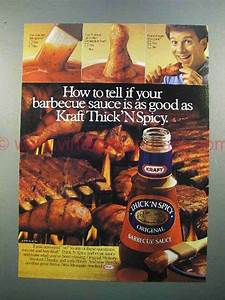 1986 Kraft Thick 'n Spicy Barbecue Sauce Ad