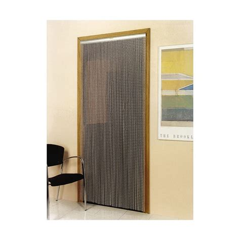 rideau de porte kriska aluminium 90x210 cm argent