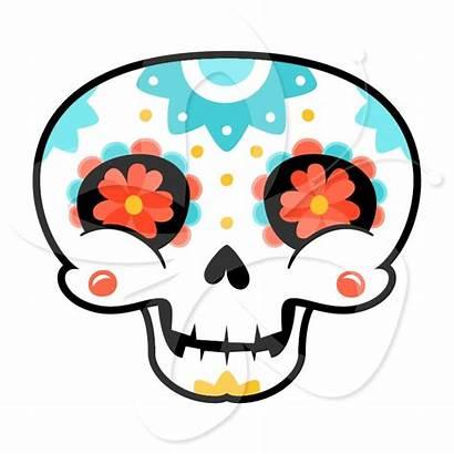 Skull Sugar Clipart Skulls Girly Dead Clip