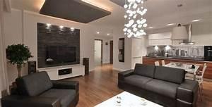 canape gris moderne 55 modeles dangle ou droits fonces With tapis moderne avec salon cuir canapé 2 fauteuils