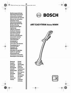 Bosch Art Easytrim Accu Nimh Operating Instructions Manual