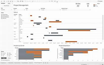 Tableau Gantt Charts Using Projects Project Viz
