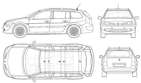 2006 renault megane ii wagon blueprints free outlines