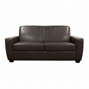Overstock leather sofas smileydotus for Small sectional sofa overstock