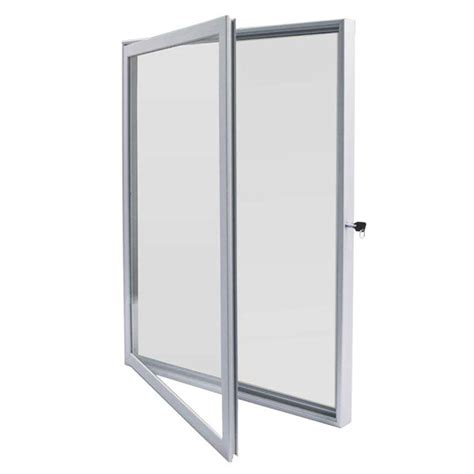 vitrine d affichage interieur porte battante pour