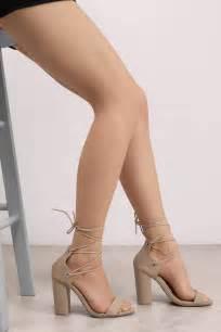 taupe color heels beige heels neutral block heels beige lace up heels