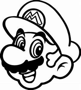 Super Mario Happy Face Coloring Page   Wecoloringpage