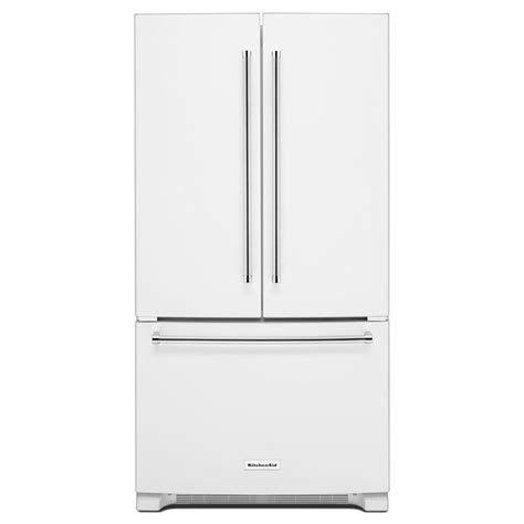 white door refrigerator kitchenaid 36 in w 20 cu ft door refrigerator in