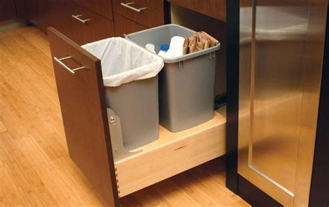 kitchen trash can ideas diy pull out trash can in a kitchen cabinet amazing idea