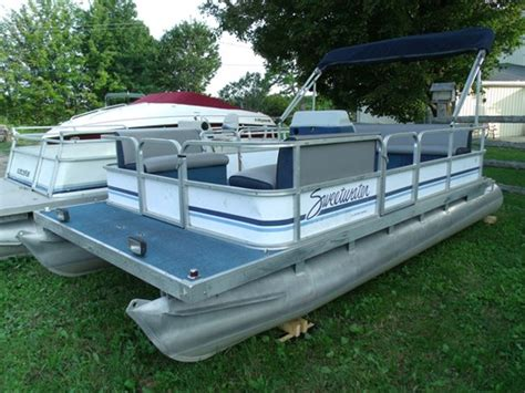 Sweetwater Pontoon Boat Seats by Sweetwater 18 Pontoon 1992 Used Boat For Sale In