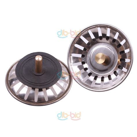 Kitchen Stainless Steel Sink Strainer Waste Disposer Plug