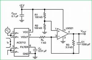Hall Effect Current Sensor Circuit With Arduino