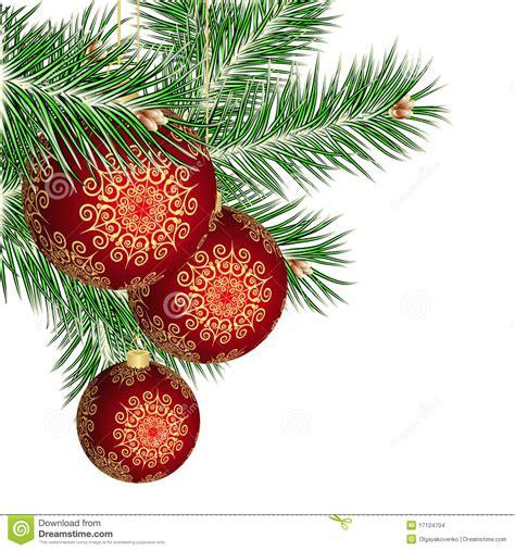 weihnachtsbaum und rote kugeln stockbilder bild 17124704