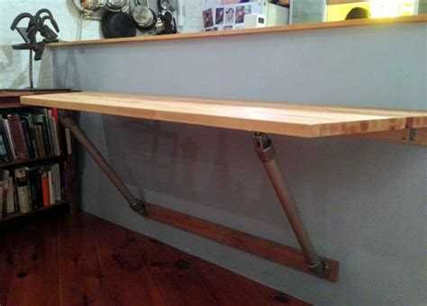 fold wall mounted kitchen table butch block wall mounted table reside butcher block