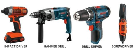 The Differences Between Impact, Hammer, Drill Drivers