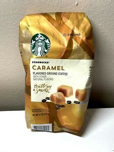 Every sip is smooth and filled with flavors that mingle perfectly together. STARBUCKS COFFEE CARAMEL Ground Flavored Coffee 11 oz Bag ...