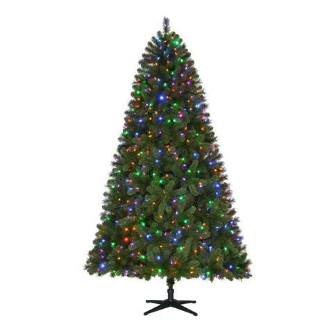 home accents 7 5 ft pre lit led wesley spruce
