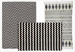 Tapis Scandinave Noir Et Blanc : tapis noir et blanc losange id es de d coration ~ Melissatoandfro.com Idées de Décoration