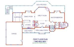 Large Log Home Floor Plans Photo Gallery by Big Sky 3 056 Sq Ft