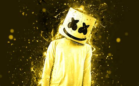 4k Resolution Neon Marshmello Wallpaper 3d by Wallpapers 4k Christopher Comstock Dj
