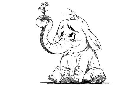draw cartoon elephant youtube