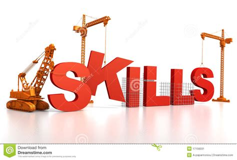 building skills stock illustration illustration  orange