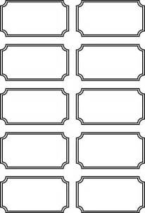 Free Printable Blank Tickets Templates