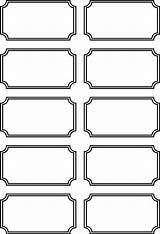 Tickets Printable Blank Templates Carnival Ticket Circus Coloring Sheets Printablee Via sketch template