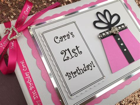 Personalised 21st Birthday Guest Book 1