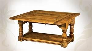 Table De Salon Bois : table basse rustique bois ~ Teatrodelosmanantiales.com Idées de Décoration