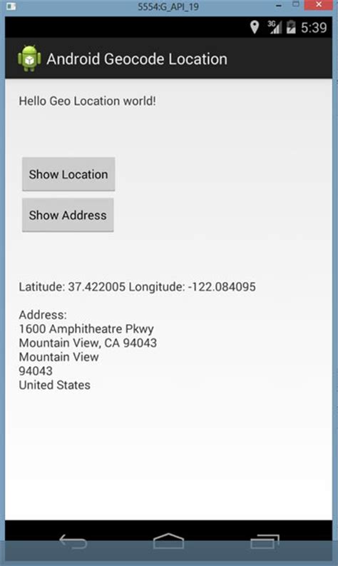 how to location on android android get address with name city for location