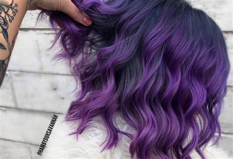Purple Highlights Trending In To Show Your Colorist