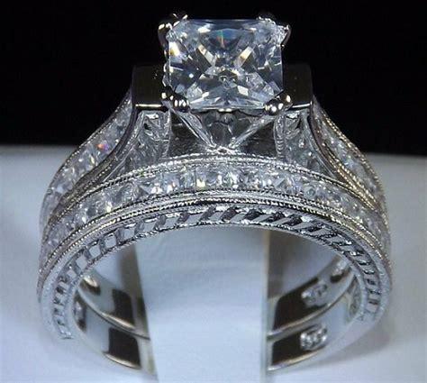 2 83 princess cut engagement wedding ring set womens