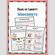 Sons Of Liberty Facts & Worksheets For Kids  Pdf Resource