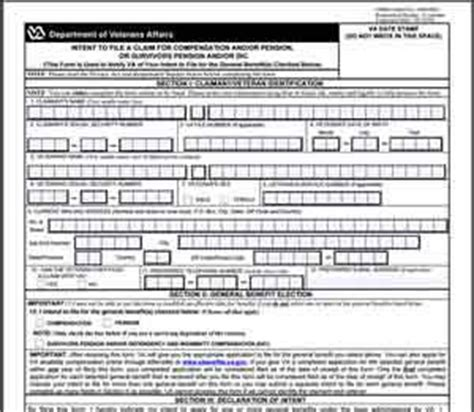 va benefits claim form getting started the most important step to securing your