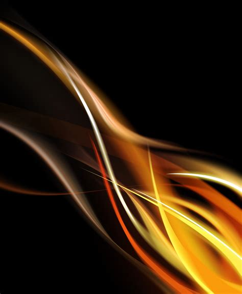 Abstract Wave Black And Orange Background by Orange And Black Wallpaper Wallpapersafari