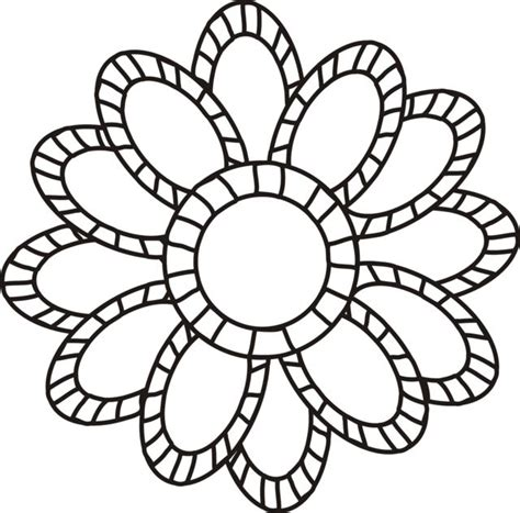 large flowers coloring pages    print